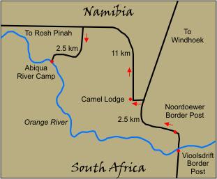 Orange River On Map Orange River Canoeing ...
